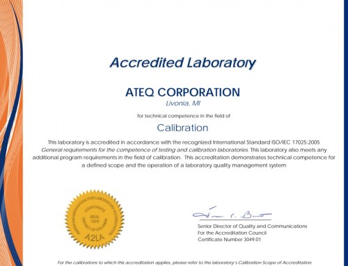 ATEQ adds Ninth ISO/IEC 17025 Certified Lab