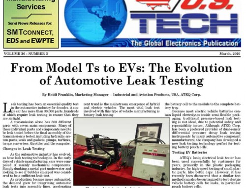 US Tech Article:From Model Ts to EVs: The Evolution of Automotive Leak Testing